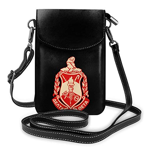 Small Cell Phone Purse For Women Leather Delta Sigma Theta Insides Card Slots Crossbody Bags Wallet Shoulder Bag
