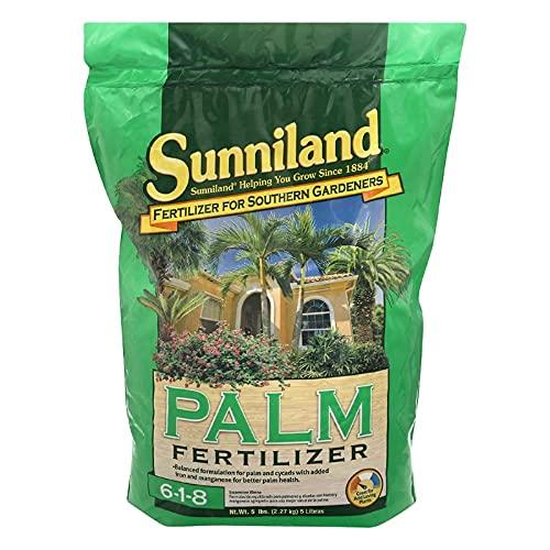 Sunniland Palm Fertilizer 6-1-8 Granules 5 Lb.