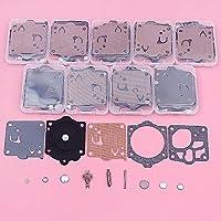 For Husqvarna用10個/ロットキャブレター修理キットP42 T、2077、394、61P、700、A 55、F 55、F 65、P 42、P 52、P 62、P650、P 7000 ぴったり