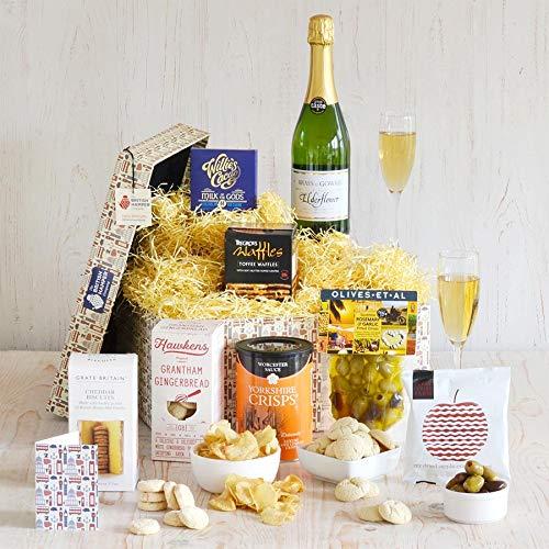 The Elderflower Delight Hamper - Beautifully Presented in a Premium Quality, Reusable, British Hamper Box