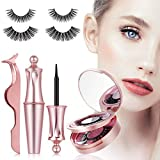 Magnetic Eyeliner and Lashes Kit, Magnetic Eyeliner With Magnetic Eyelashes, Reusable 3D Full