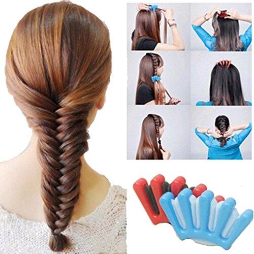 HENGSONG Mode Haarstyling Tool Französisch Haare Flechten Tool Roller Haar Styling Twist (Blau)