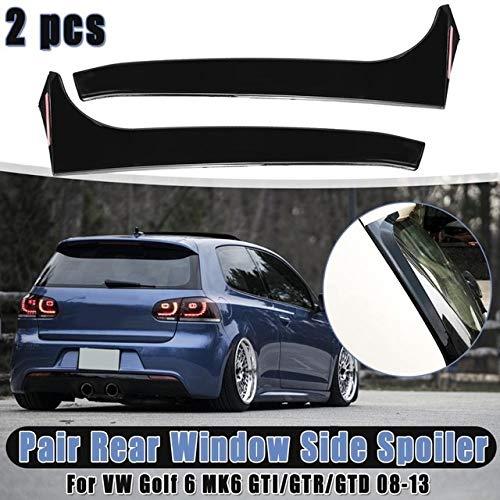 Heckscheibe Seiten Spoiler Flügel, 1 Paar Auto-Seitenspoiler Aufkleber Trim Abdeckung Accessoires Auto Styling for VW Golf 6 GTI MK6 / GTR/GTD 2008-2013 Car Styling