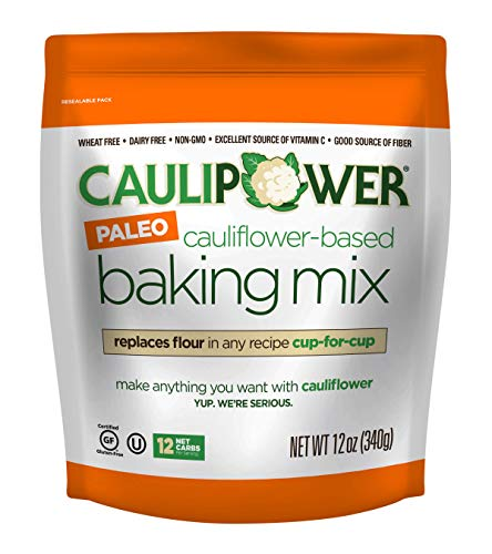CAULIPOWER Cauliflower-Based Baking Mix, Paleo, 12 Oz, Paleo All-Purpose Vegetable-Based Flour, Gluten Free, Grain Free, Non-Gmo, Only 12 Net Carbs