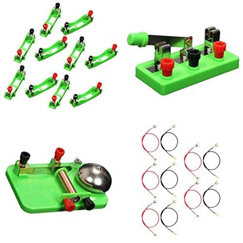 VANKOA Dual Throw Switch U Form Kabel Klingel Batteriehalter Kit Für Physikalische Ausrüstung