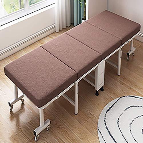 FTFTO Productos para el hogar Cama de Cuatro esponjas Plegable Cama Simple para la Siesta de Oficina Cama de acompañante compartida 74.8 * 23.6 * 11.8In Marrón Azul Gris Marrón 74.8 * 23.6 * 11.8in