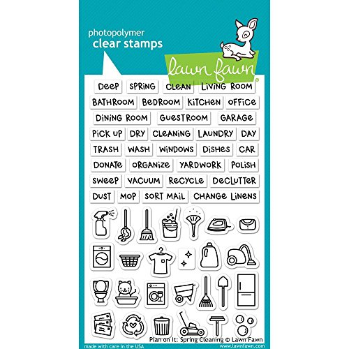Lawn Fawn Clear Stamps - Plan on it: Spring Cleaning (LF1607)