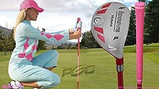 Integra Women's iDrive Golf Club All Ladies Pink Hybrid Pitching Wedge (PW) Lady Flex Right Handed New Utility L Flex Club