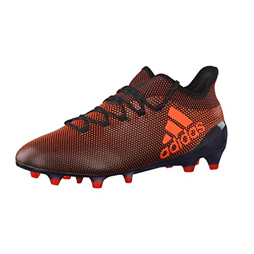 adidas ADIDAS Herren X 17.1 Fg Fußballschuhe, Mehrfarbig (Core Black / Solar Red / Solar Orange), 42 EU