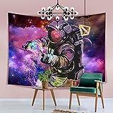 Hexagram Trippy Space Tapisserie Hippie Galaxie Wandbehang