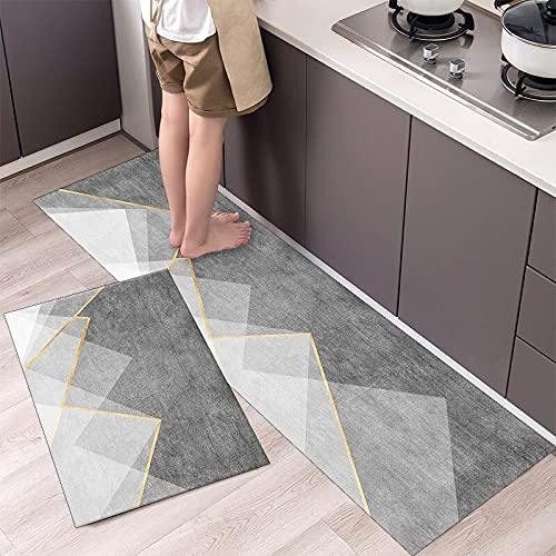 HLXX Alfombrilla para Suelo de Cocina, patrón de vajilla, Felpudo de Entrada, Felpudo para Puerta de baño, salón, Antideslizante, antifouling, alfombras largas A15 40x60cm