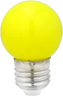 MEXUD-1W E27 Coloured Round LED Golf Ball Light Bulb Lamp (Yellow)
