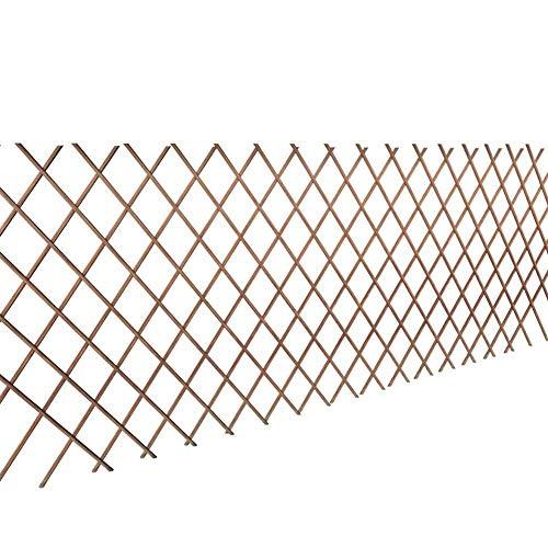 lyrlody- Rankgitter aus Weide Spalier, 5 Stücke Rankgitter Weide Spalier Rankhilfe Gitter als Sichtschutz oder Dekoration Weidenzaun Sichtschutz 90 x 180 cm