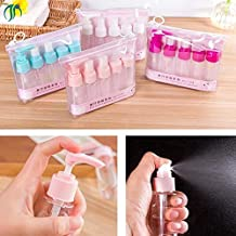MAX HOME® Multipurpose 7pcs Portable Travel Cosmetics Container Bottle Set Travel Cosmetic Bottles Shampoo Bottle Toiletries Liquid Containers Spray Bottles