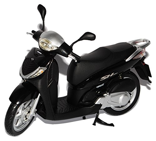Ixo Hon-da SH125I Roller Schwarz 1/12 Modell Motorrad mit individiuellem Wunschkennzeichen