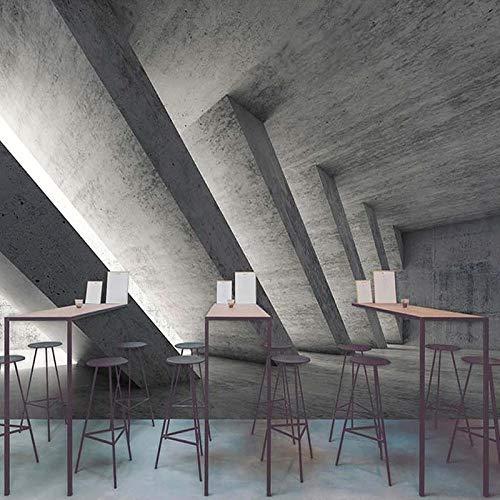 SDzuile Fotomurales Autoadhesivo 3D Murale - Retro Industrial Feng Shui Cemento 300X210 cm Infantil Niño Niña Hogar Dormitorio Salon Despacho Papel Tapiz Pegatinas De Pared Decorativos Pared P