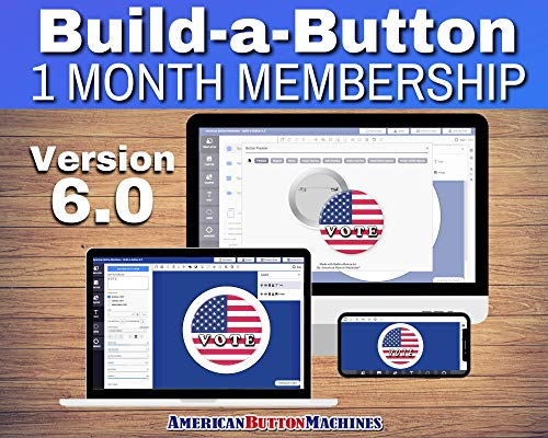 Button Maker Machine Graphic Making Design Software - 1 Month Membership