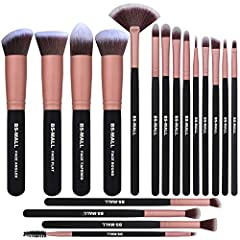 18-PIECE BRUSH COLLECTION - - Cover all your needs of all Your Makeup. Using BS-MALL blending brush, eyebrow brush, eyeshadow brushes and so on can give you results similar to makeup applied by a professional makeup artist! FIT EVERY FACE - - The eye...