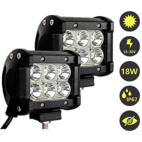 Hengda 2x 18W LED Arbeitsscheinwerfer 12v Scheinwerfer für Auto, Traktor, Offroad, LKW, SUV, PKW LED Strahler Zusatzscheinwerfer IP67 Wasserdicht Rückfahrscheinwerfer