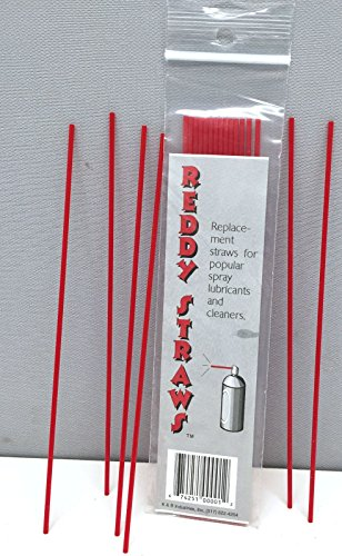 20 Replacement Aerosol Spray Can Tip Plastic Red Straws Oil Cleaner Lubricant Tubes WD40 WD 40 Automotive