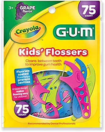 GUM Crayola Kids' Flossers, Grape