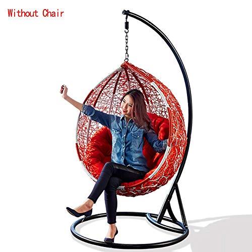 FCXBQ Cojines de Silla con Forma de Nido de Huevo, cojín de Cesta Almohadillas de Mimbre de Mimbre Colgantes Hamaca Colgante Plazas Individuales Lavable sin sillas-Rojo D105cm (41 Pulgadas)