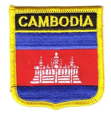 Wappen Aufnäher Patch Kambodscha Flagge Fahne NEU