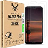 ISOUL [Paquete de 3] protectores de pantalla de vidrio templado para Huawei P20 Lite [Antiarañazos] [2.5D Edge] [HD Clear]