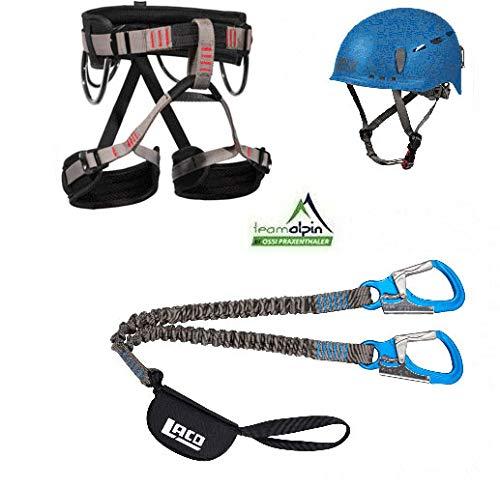 LACD Klettersteigset Via Ferrata Pro Evo 2.0 Start Gurt Protector 2.0 blau (M)