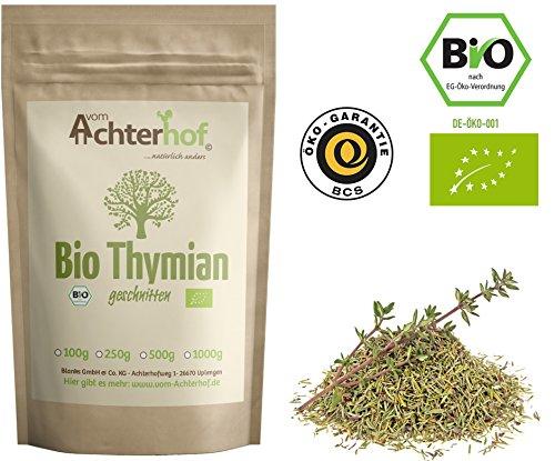 Bio Thymian getrocknet und gerebelt (500g) Bio-Thymian-Tee als Gewürz oder als Tee zu verwenden vom-Achterhof