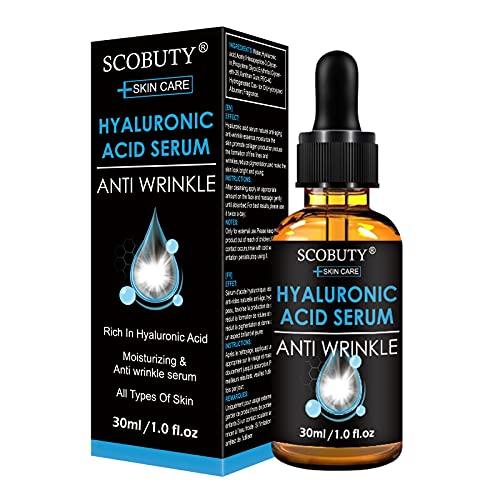 Ácido Hialurónico Cara | Serum Acido Hialuronico | Hyaluronic Acid Serum | Serum Antiarrugas,Anti Wrinkle & Anti Aging Eliminar Líneas de Expresión y Arrugas Hidratación Suave y Fácil