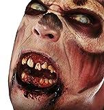 shoperama Dientes de terror con adhesivo termoplástico reutilizable, dientes de esquina de dócula, chupete de sangre demonio FX Halloween, variante: zombi
