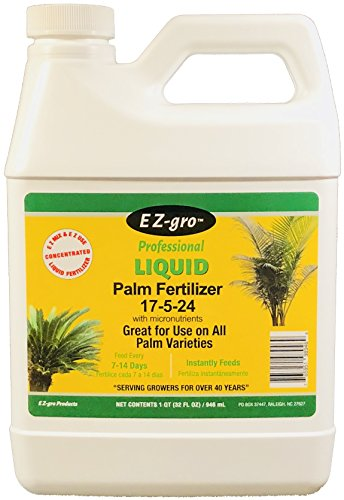 Palm Fertilizer by E Z-gro | Our 17-5-24 is Specially Formulated for Your Indoor Palm tree and Your Outdoor Palm Trees | Our Palm Tree Fertilizer is Enhanced with Extra Micronutrients