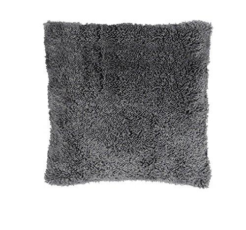Exner Kissen - Kuschelkissen - Dekokissen - Kissen Dans mit 400g Füllung, dunkel grau, 45 x 45 cm