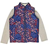 Buffalo David Bitton Girl's 2-Piece Reversible Full Zip Vest with Long Sleeve Shirt (Floral Coral, Large)