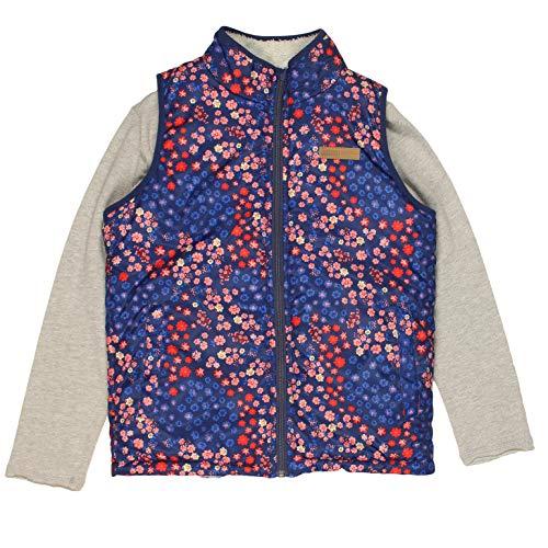 Buffalo David Bitton Mädchen-Weste, beidseitig verwendbar, mit durchgehendem Reißverschluss, langärmliges Shirt - Pink - Large