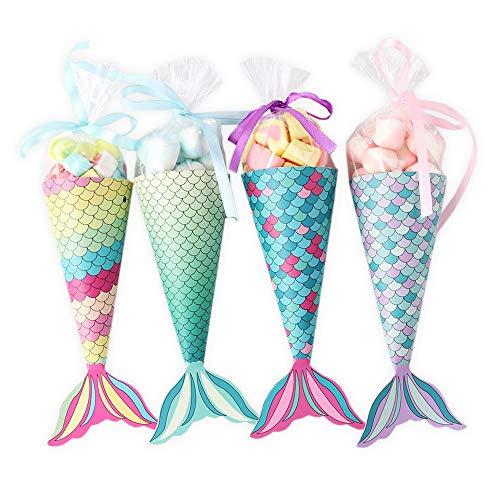 nikima Schönes für Kinder 12 Papiertüten Meerjungfrau   DIY Bastelset   Geschenktüte Kindergeburtstag Mitgebsel Gastgeschenk