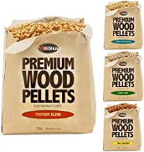 Kona Best Wood Smoking Pellets - Grilling Smoker Tube Pellets Variety Pack - 100% Hickory, Premium Blend, 100% Oak, Signature Sweetwood Blend - 2 Pound Bags