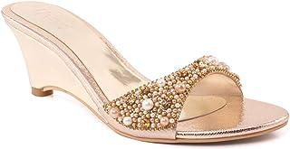 996f8dacf7f Unze Unze Women AVA Gorgeous Open-Toe Low Heel Diamante Sandal UK Size 3-