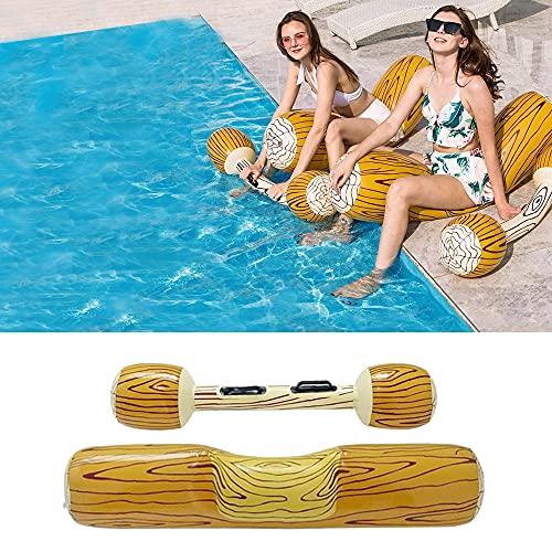 QASIMOF WOSNN Gesetzte aufblasbare Schwimm Reihe,Pool Float Battle Log Rafts Row Pool Float Wasserspielzeug für den Sommer Pool Party Wassersport.(2 Stück)