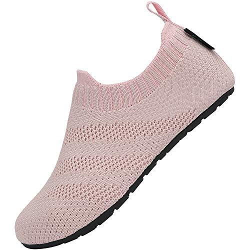 SAGUARO Zapatillas de estar por casa para niños y niñas, ligeras, antideslizantes, para niños pequeños, suaves, color Rosa, talla 24/25 EU