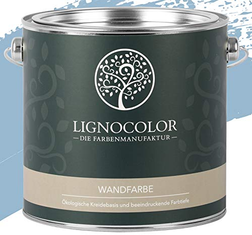 Lignocolor Wandfarbe Innenfarbe Deckenfarbe Kreidefarbe edelmatt 2,5 L (Polar)