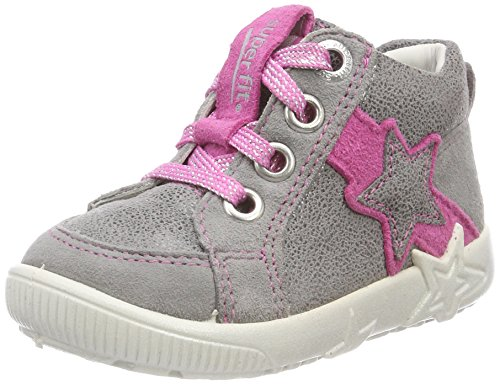 Superfit Baby Mädchen Starlight Sneaker, Grau (Smoke Kombi), 20 EU