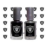 Worthy Promo NFL Oakland Raiders Nail Care Set, 4-Piece Set, Black, Gray