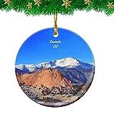Weekino Cascade Pikes Peak Colorado USA Christmas Ornament Travel Souvenir Personalized Christmas Tree Pendant Hanging Decoration