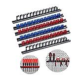 3-H Soporte de destornillador, Organizador de destornillador de montaje,Parat Tornillo de sujeción, organizador herramientas pared(2 negros 2 Azul 2 rojo)