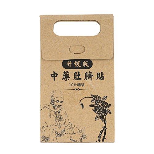 10 piezas Potentes etiquetas de pasta adelgazante Cintura delgada Vientre Parche para quemar grasa Medicina china Productos para adelgazar para el cuidado de la salud (Color: marrón)