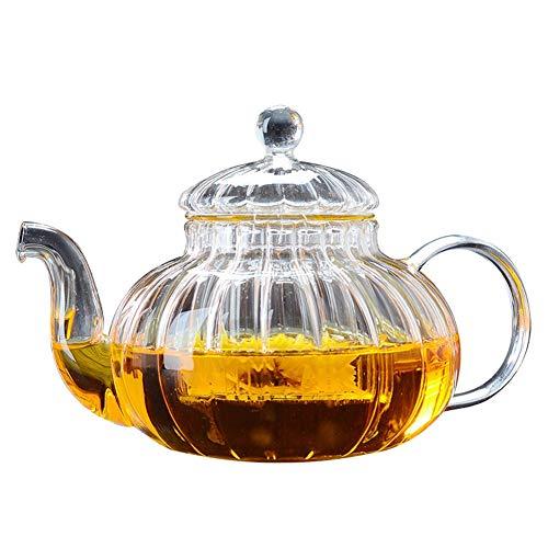 Glas Gestreepte Pot Hoge Temperatuur Glas Theepot Huishoudelijke Hittebestendige Glas Theepot Bloem Theepot TONGTONG SHOP-10.13