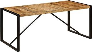 vidaXL Bois de Manguier Brut Table de Salle à Manger Table à Dîner Table de Repas Meuble de Salle à Manger Cuisine Maison ...