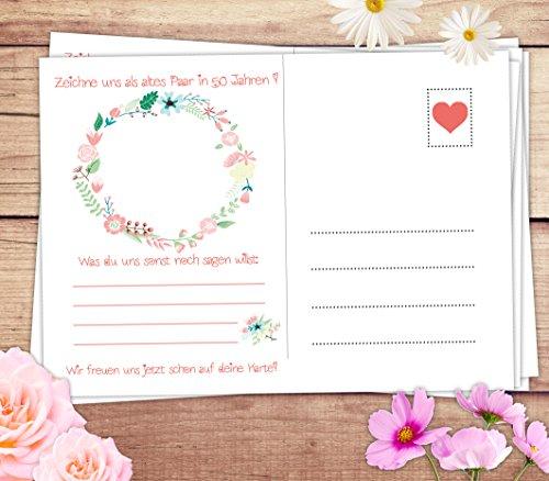 Hochzeitspiel: 52 Postkarten mit spannenden Fragen für Gäste und das Brautpaar - 5
